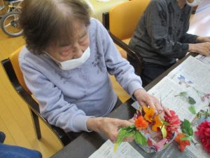 ≪GH≫造花でフラワーアレンジメント